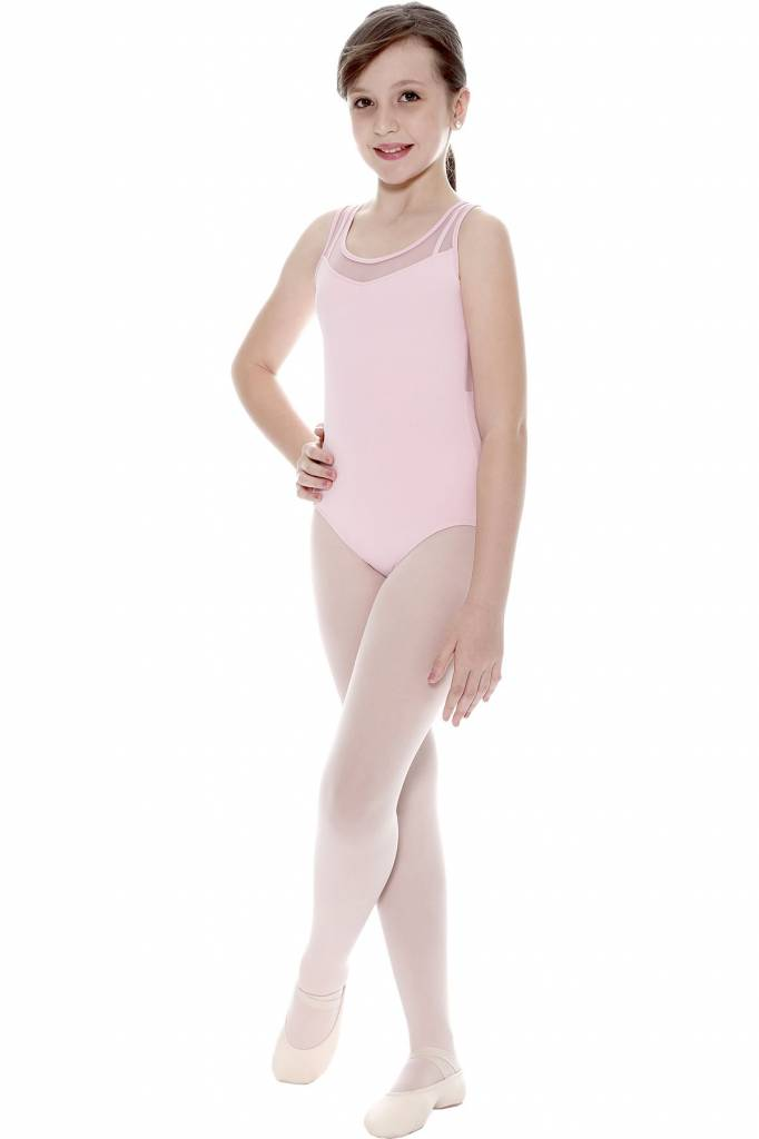24c2e5656a So Danca Mesh Front Keyhole Back Leotard L-1121 - Black and Pink Dance  Supplies