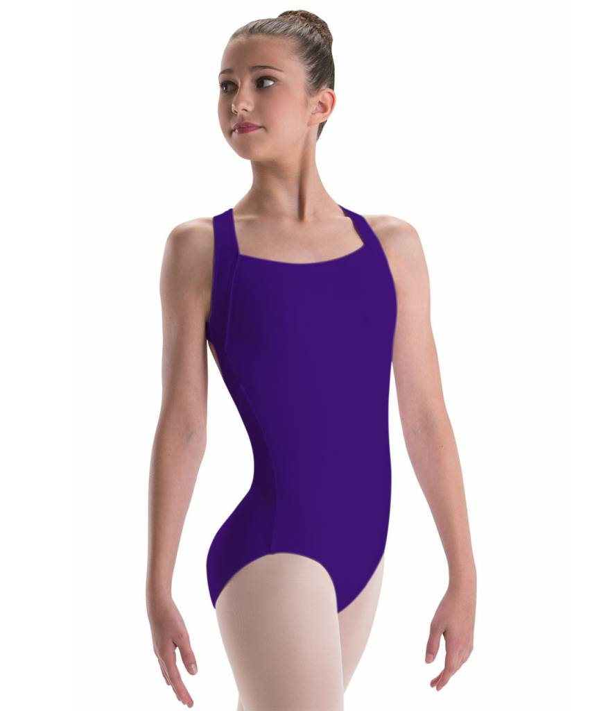 679ce61f48a Motionwear X-Back Wide Strap Leotard Youth 2032 - Black and Pink Dance  Supplies