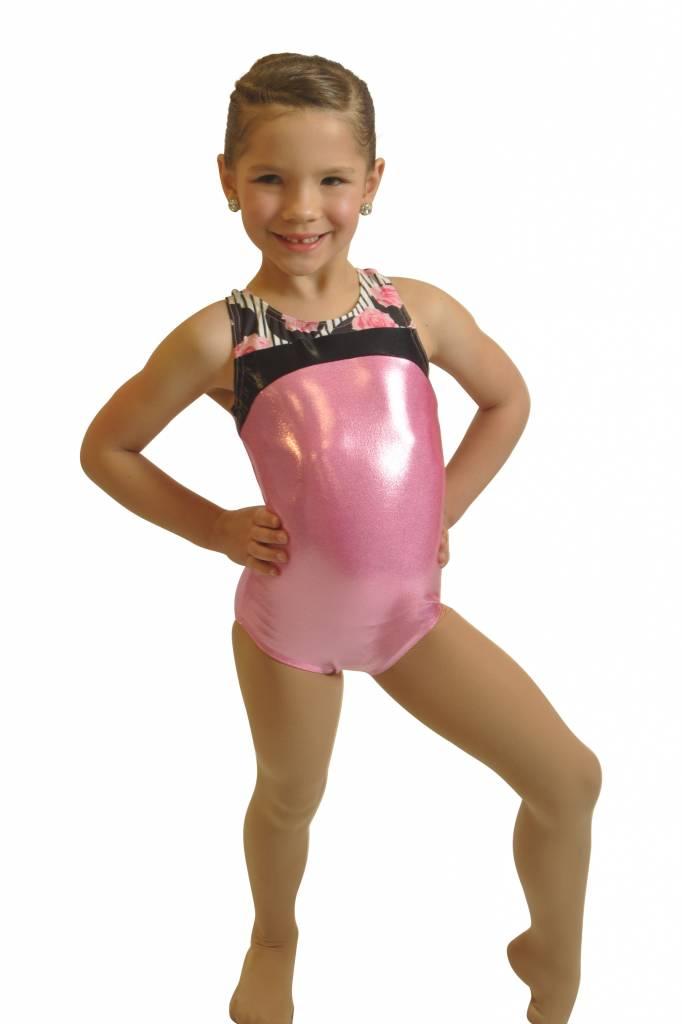 16f80d94b046 BP Designs Rose Gymnastic Leotard 43222 - Black and Pink Dance Supplies,  Tulsa