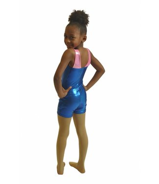 "BP Designs BP Designs ""Morgan"" Gymnastic Biketard 46403 Royal/Bubblegum"
