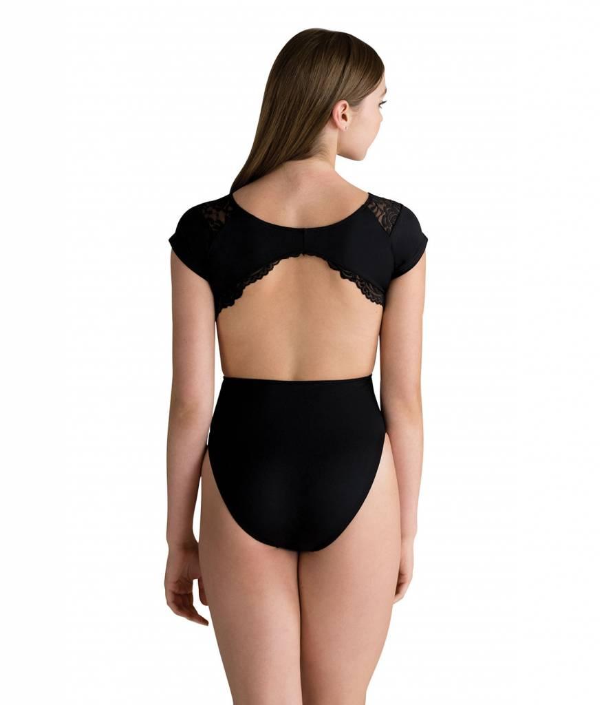 Motionwear Side Cutout Scallop Lace Leo Style 4492