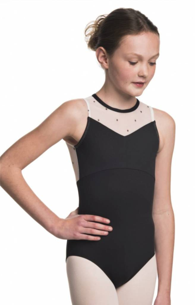 Ainslie Wear AinslieWear Kirsten with Polka Dot Mesh for Girls 1041PD Youth