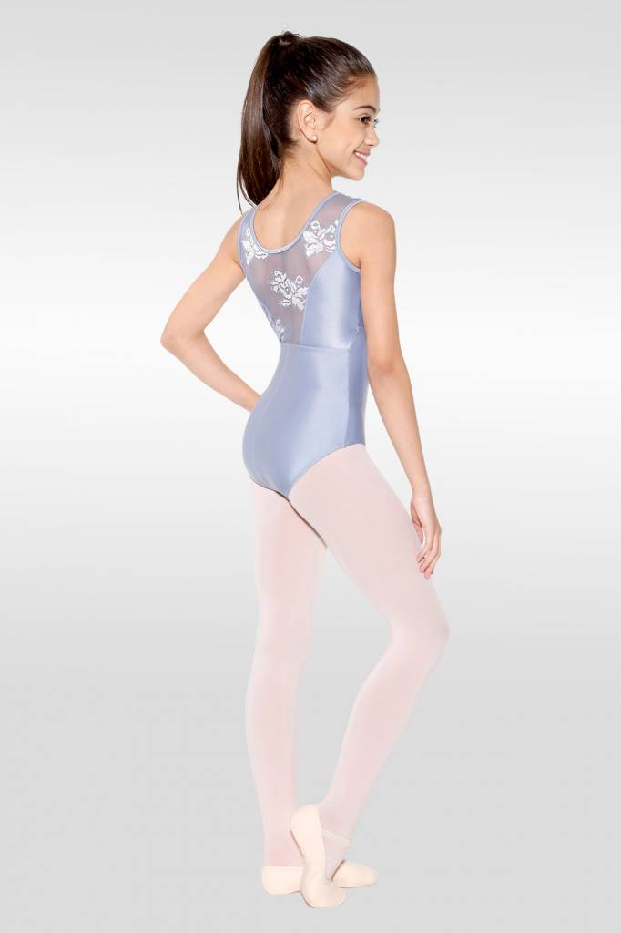 f98df5a8feae So Danca Pinch Front Mesh Back Tank Leotard L-1535 - Black and Pink ...