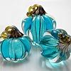 Blue Glass Pumpkin