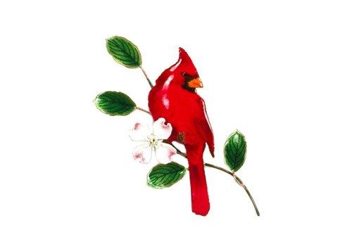 Male Cardinal with Dogwood