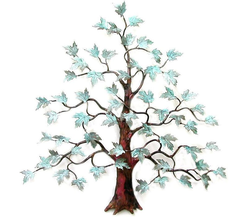 Maple Tree with Patina Leaves