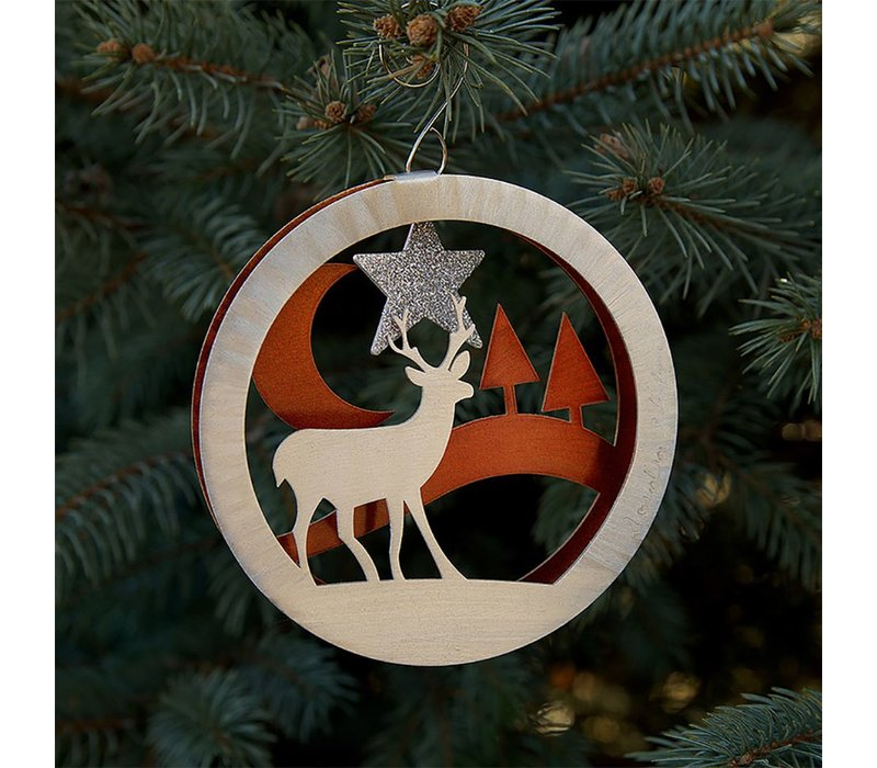 Winter Deer Ornament