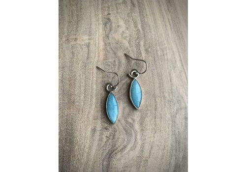 Small Amazonite Marquis Earrings
