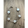 Squiggle Coin Pearl Bracelet