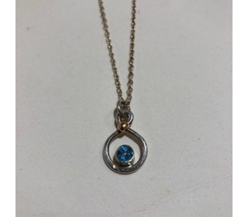 Swiss Blue Topaz Infinity Necklace