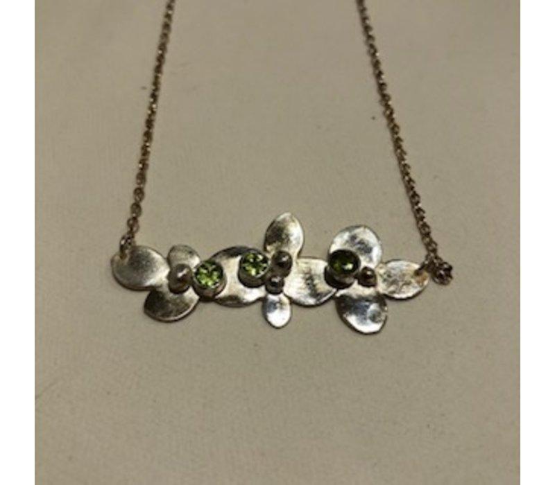 Peridot Bouquet Necklace