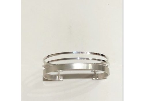 Triple Band Sterling Silver Cuff