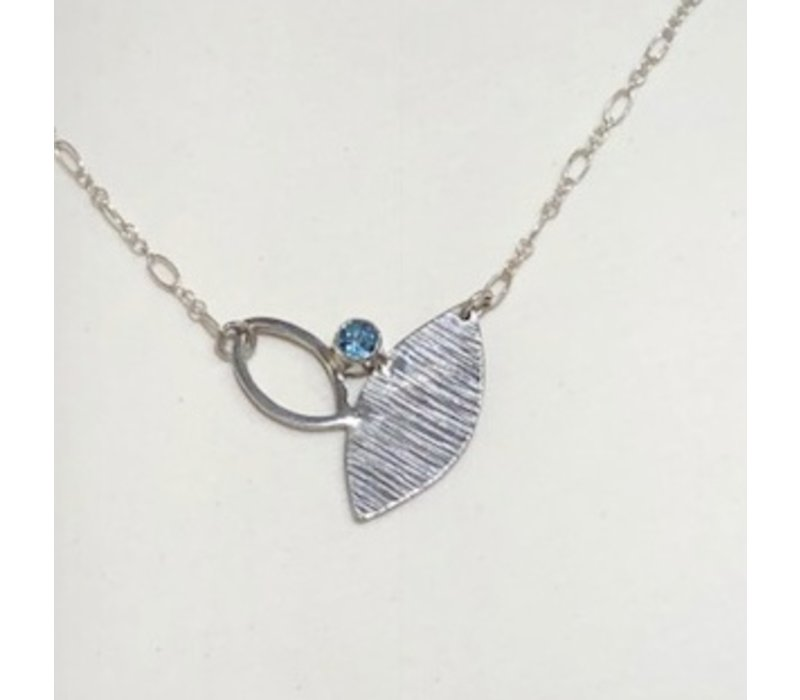Flora Necklace with Topaz Stone