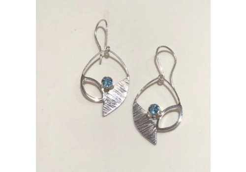 Flora Earrings with Topaz