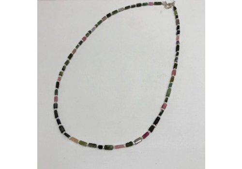 Multi Tourmaline with Pearl Necklace