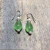Teardrop Green Seaglass Earrings
