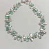 Chalcedony Brio and Keshi Pearl Necklace