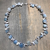 Keshi Pearl with Chalcedony Gemstones Necklace