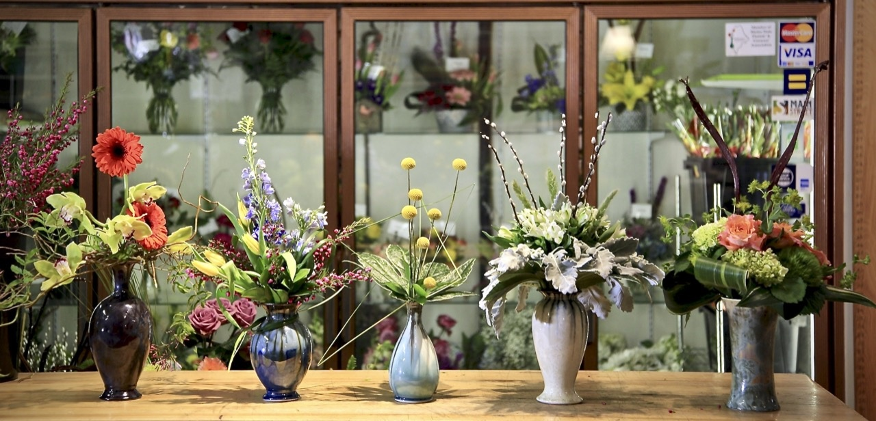 Edgecomb Potters Vases flowered