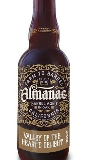 Almanac Valley of the Hearts Delight Sour Blonde Ale aged in Wine Barrels with Apricots and Cherries