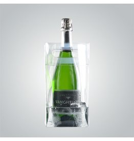 Collapsible Wine Ice Bag Clear