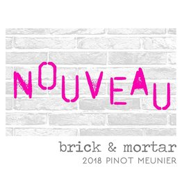 Organic Brick and Mortar Pinot Meunier Nouveau Block House Vineyard 18