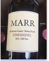 Marr Zinfandel Old Vine Mattern Ranch Mendocino County 14