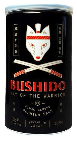 Bushido Way of the Warrioir Junmai Genshu Sake 180ml