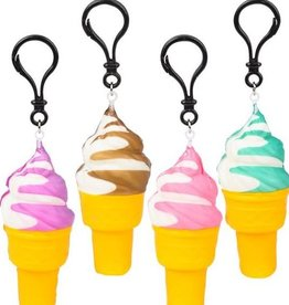 Squishy Ice Cream Cone Keychain