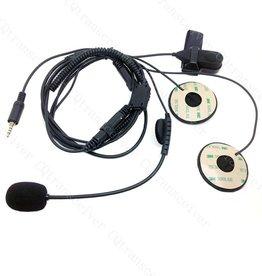 PTT Half Helmet Microphone (K Plug) for Baofeng / Kenwood Radios