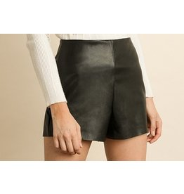 Amanda Vegan Leather Shorts