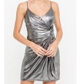 Front Wrap Mini Dress