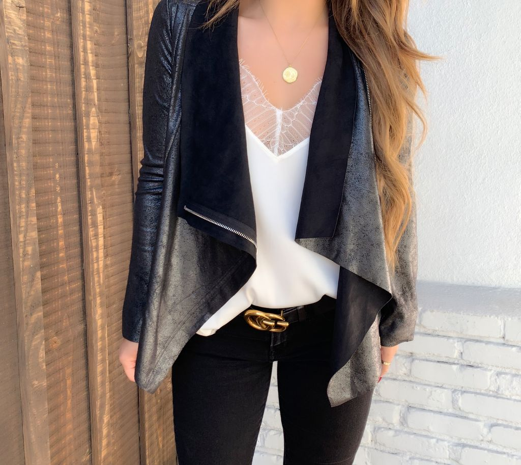 Janet Suede Zipper Jacket