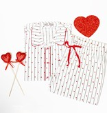 Amour Heart Stripe Set