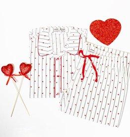 Amour Heart Stripe Set