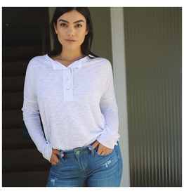 Henley Button Top