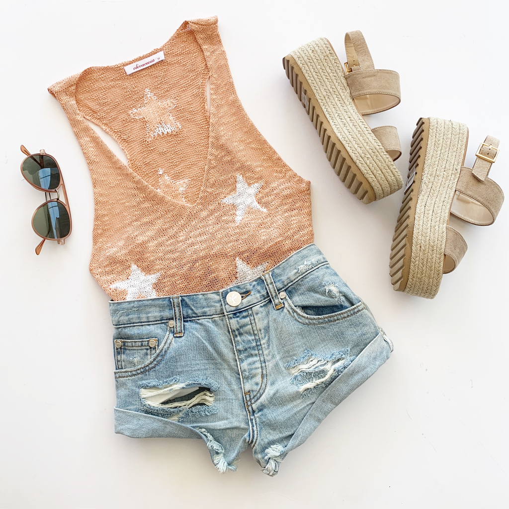 Knitted Star Tank