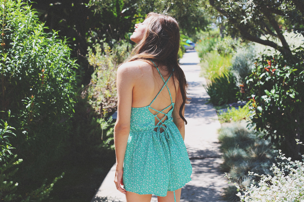 Bed of Flowers Lace Up Romper