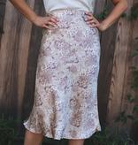 Snake Skin Middy Skirt
