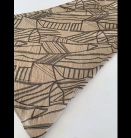 Geo Woven Midi Skirt