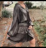 Shimmering Pleated Mini Dress