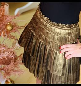 Pleated Tiered Mini Skirt