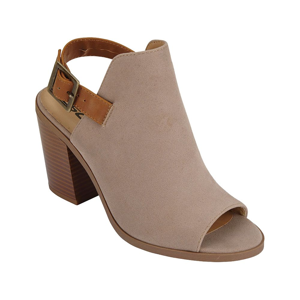 Open Back Stacked Bootie