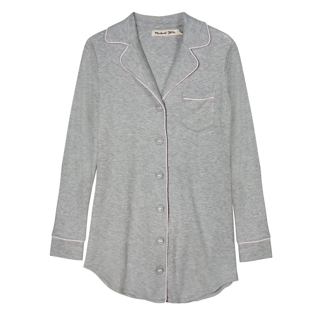 Button Up Night Shirt