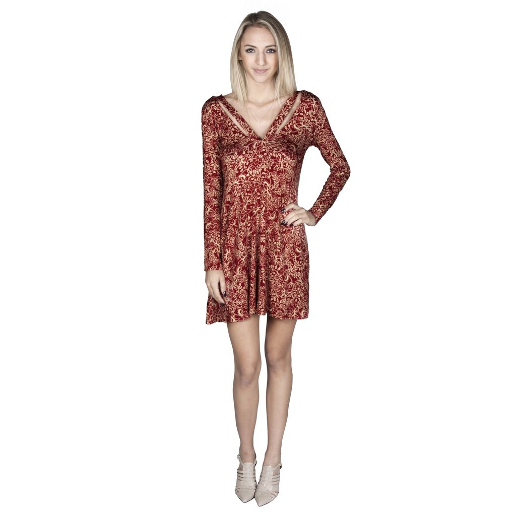 Harriet Dress-Crimson Primrose