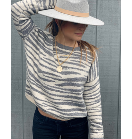 Zebra Lines Sweater