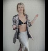 Alexa Silky Slit Midi Skirt