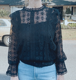 Extra Lacey Neck Top
