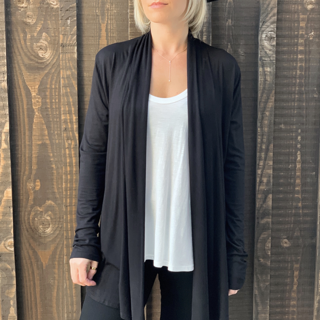 Emma's Closet Simple Open Cardigan
