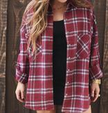 Demi Flannel Top